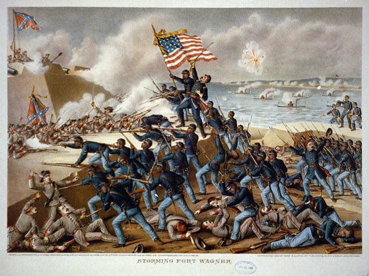 Massachusetts 54th Storming of Fort Wagner, Colored Troops Glory