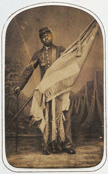 Massachusetts 54th Soldier William Harvey Carney photograph 1864