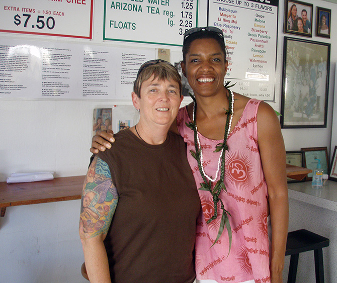 Jennifer Castleberry and Jeanette Valentine at Haz Beans