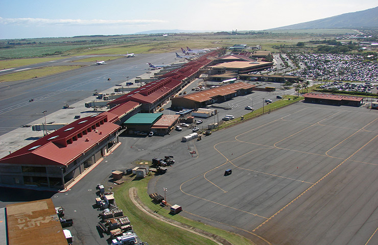 Kahului Airport in Maui