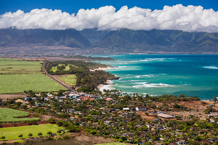 The village of Paia, Maui