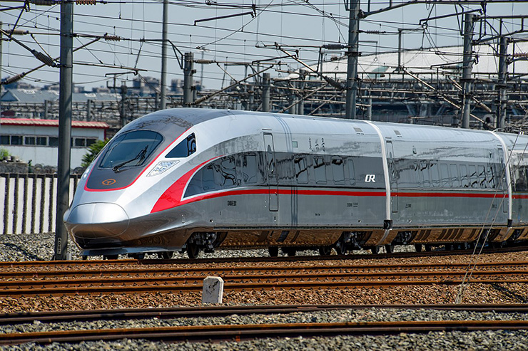 Fuxing 217 mph, 1193 patron capacity train by China Railways; credit N509FZ