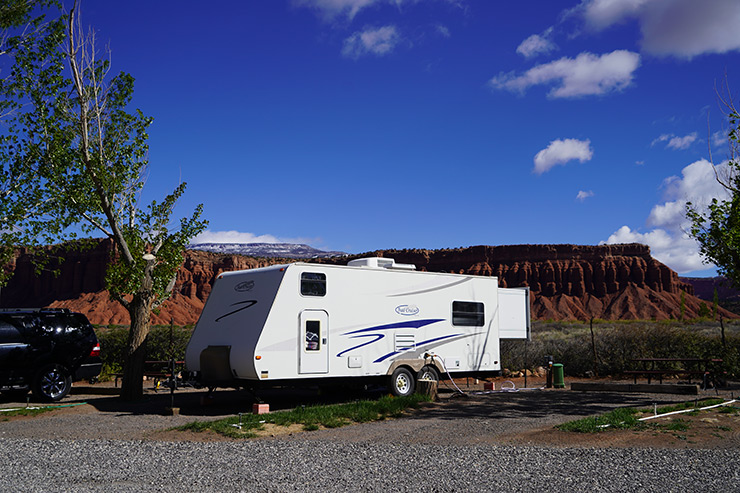 RV Camper at Bryce Canyon