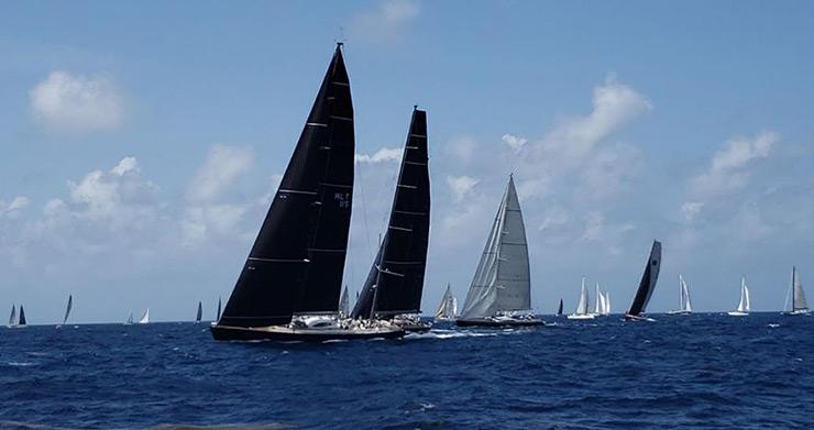 Sailing Regatta off Antigua