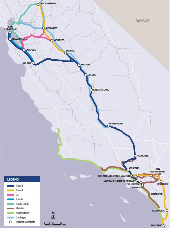 California Rail Map 2016