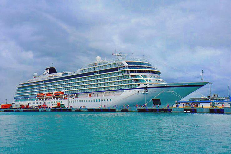 Viking ship at san Juan cruiseport