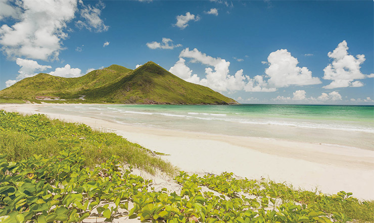 Sandy Point Beach on St. Kitts