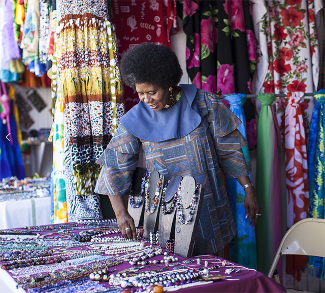 Jewelry merchant at St. Kitts