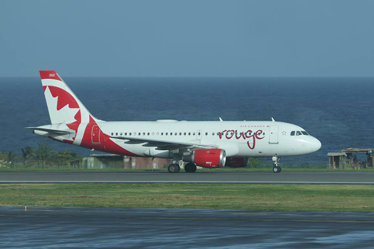 Canada Air ending in St. Vincent