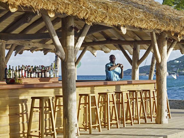 St. Vincent beach bartender