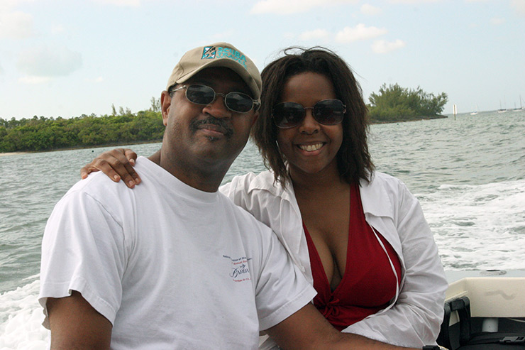 Lovely couple on Abaco dive boat; (c) Soul Of America