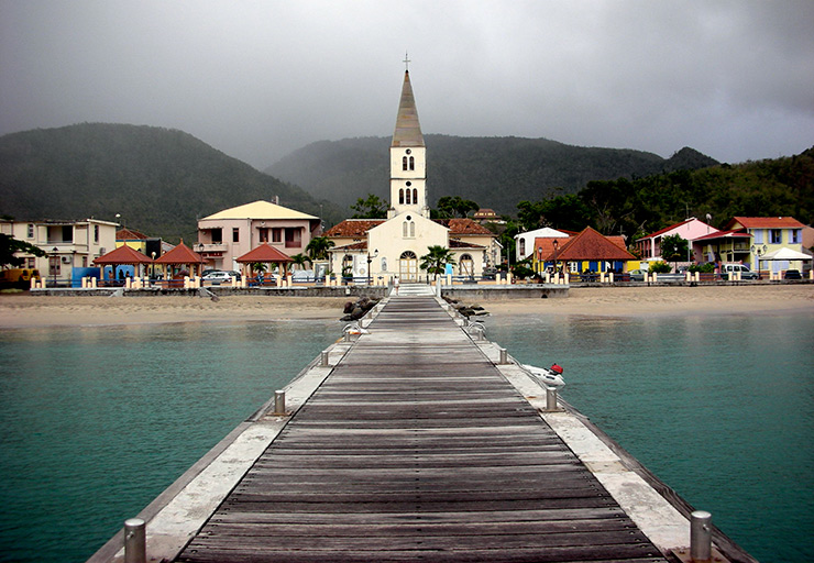 View of Anses d'Arlets from the pier, Martinique History