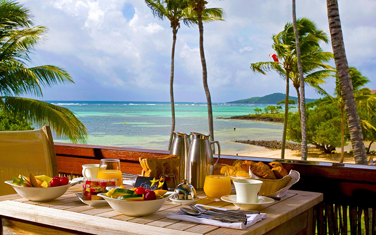 Breakfast cafe with a view, Martinique Hotels