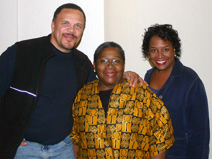 Thomas Dorsey, Dr. Vernell Lillie and Director Barbara Morris at Kuntu