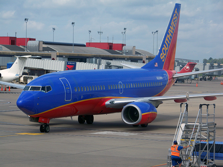 Southwest jet at PIT Airport, Pittsburgh Transportation