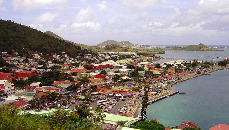 Marigot view from Fort Louis, St. Maarten Attractions