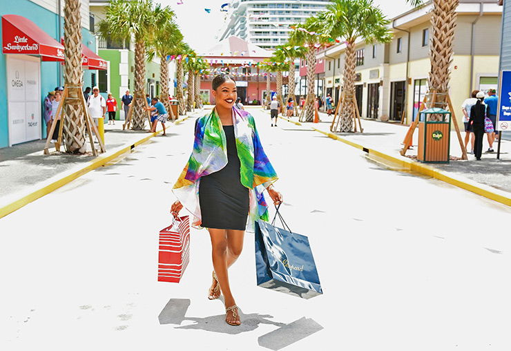 Shopping at Road Town cruise port in Tortola