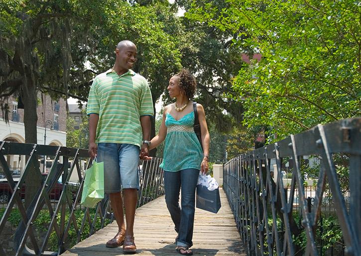 Couple on Savannah Factors Walk