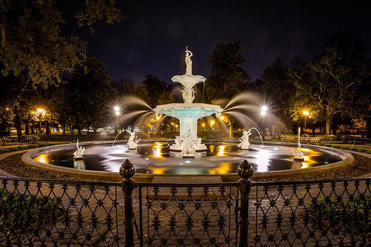 Forsyth Park Fountain, A Unique Landscape