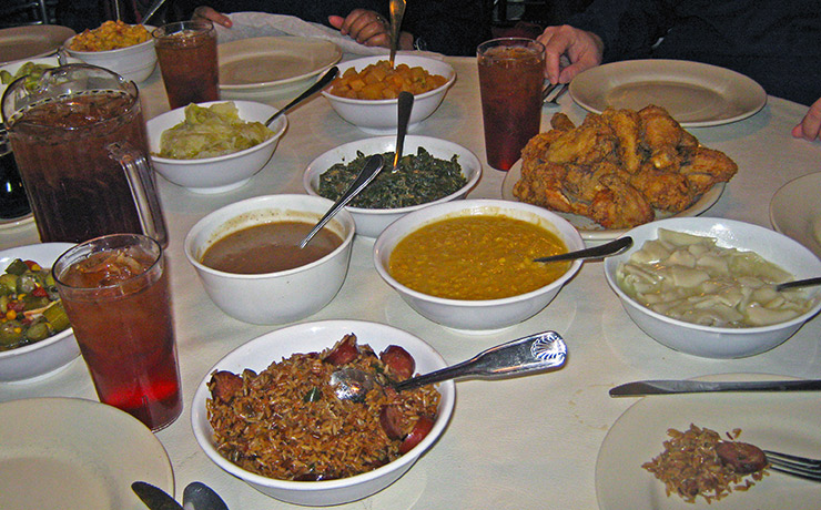 Delicious samples at Wilkes House, Savannah Restaurants
