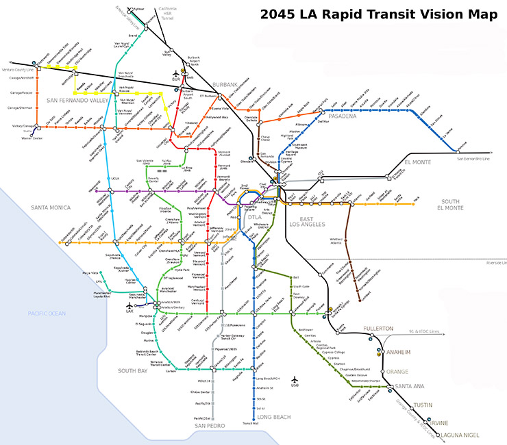 LA Rapid Transit Vision Map