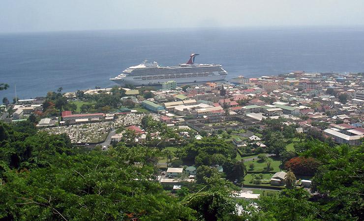Dominica Transportation, Carnival Cruise ship