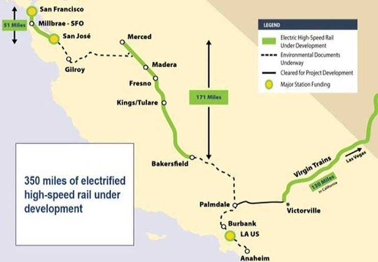 Electric Rail California Map