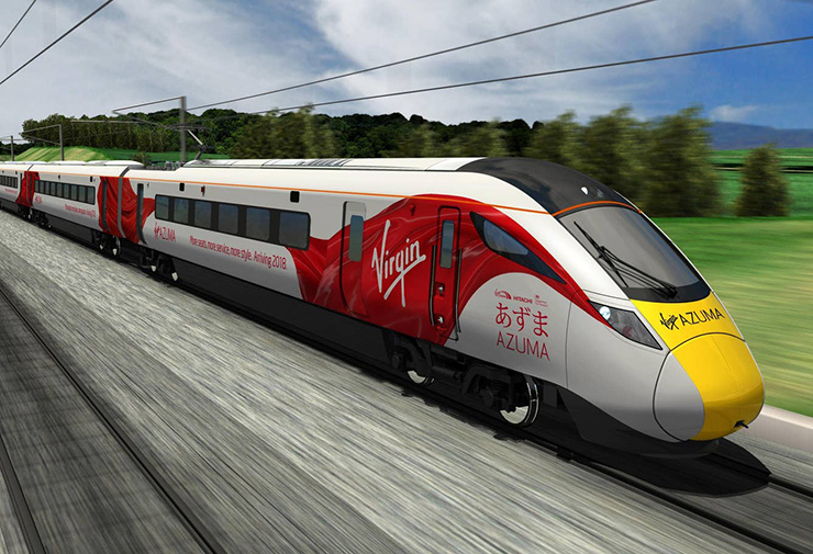 Virgin Trains Las Vegas will be electric-powered like Virgin Trains Azuma