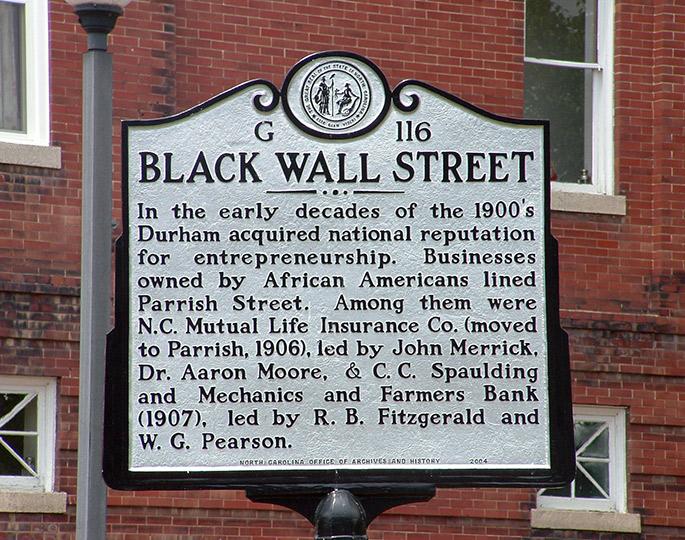 Durham Black Wall Street
