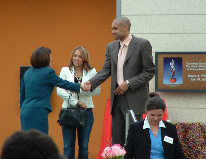 Tamia and husband Grant Hill at Nasher Museum of Art, Durham Arts