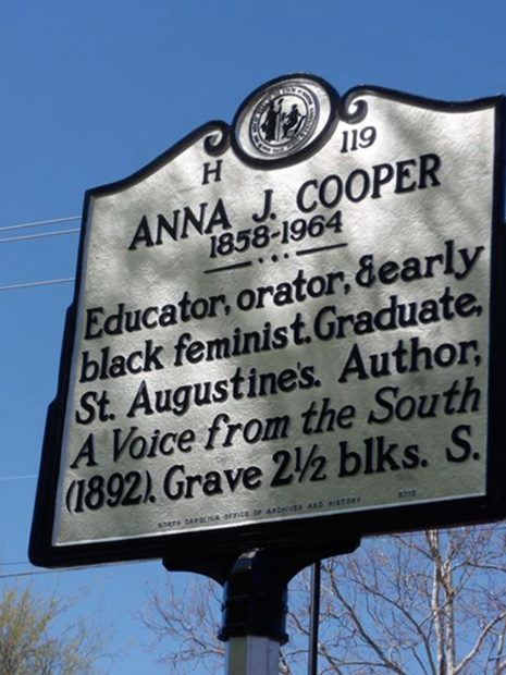Anna Julia Cooper, Raleigh Historic Sites