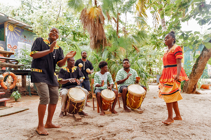 Garifuna Drumming Lesson in Belize History