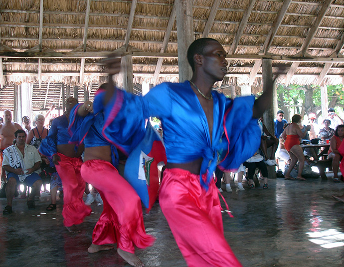 Haitian dancers at Labadee Attractions