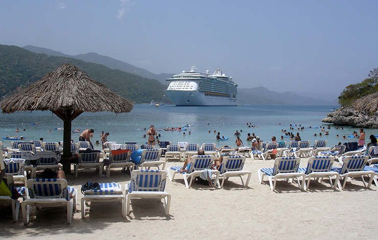 Beach to ship at Labadee