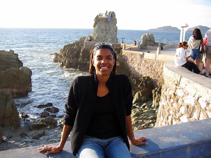 Jeanette Valentine at the Cliff Dive, Mazatlan
