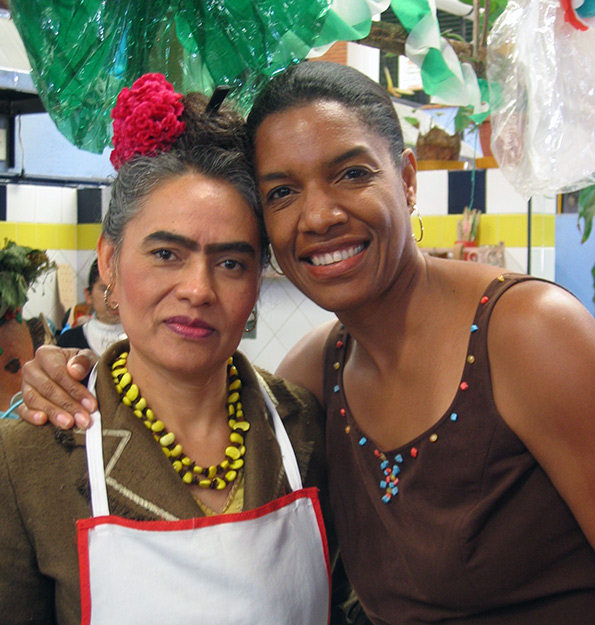 Jeanette and Frieda Kahlo look-alike, Oaxaca
