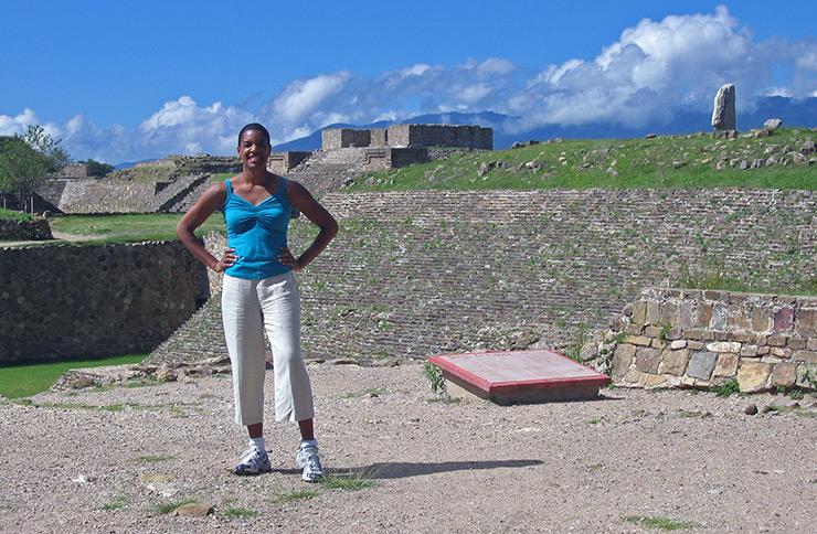 Jeanette Valentine at Monte Alban