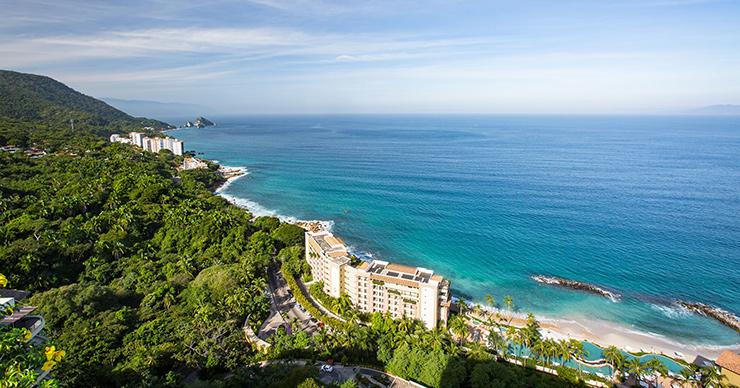 Beach resorts south of Puerto Vallarta