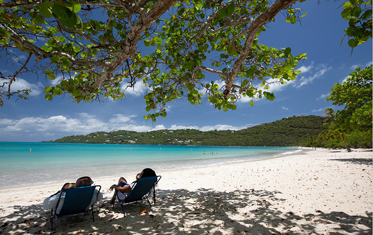 Relaxing on Magens Bay, St. Thomas Beaches