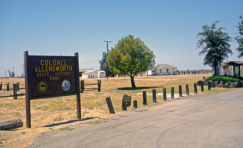 Entrance to Allensworth, California