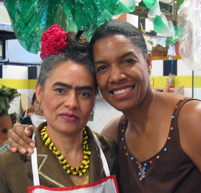 Frieda Kahlo look-alike with Jeanette Valentine, Oaxaca