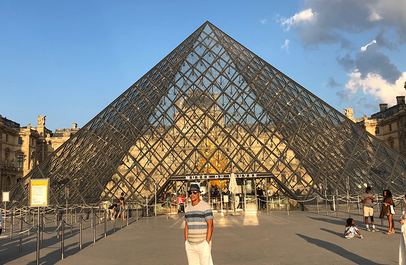 Lenny Dorsey at the Louvre, Paris