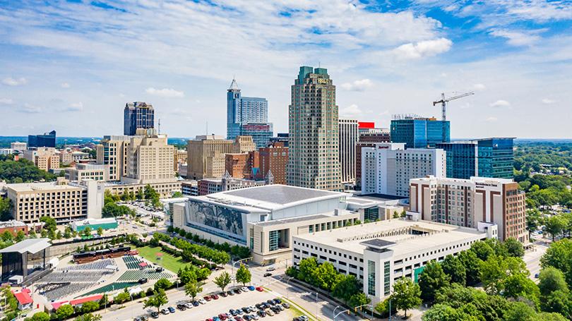 Raleigh, North Carolina skyline, U.S. Cities