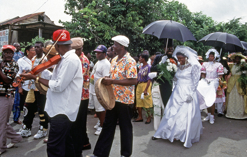 Wedding procession during the Trinidad Heritage Festival