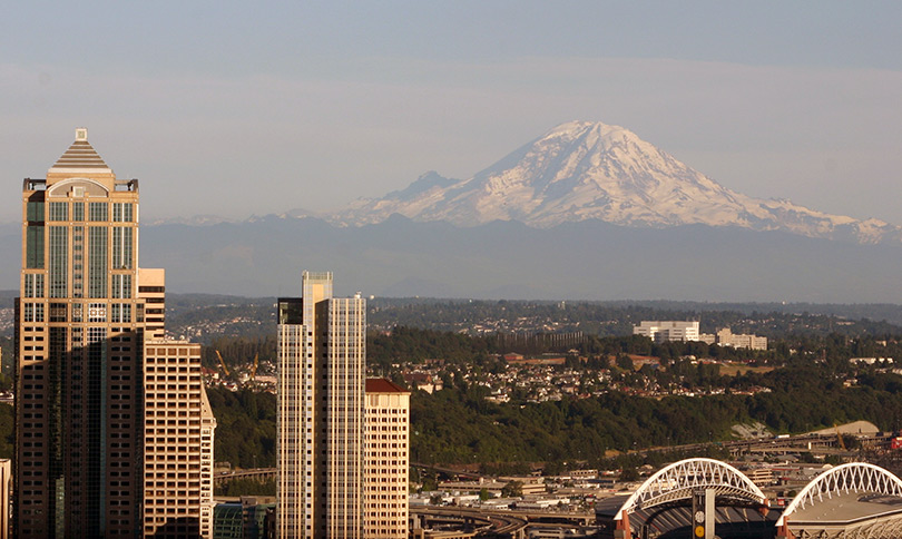 View of Mount Rainier from the Space Needle, Seattle Photos