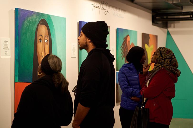 Art exhibit at Northwest African American Museum