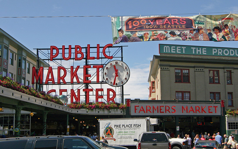 Pike Place Farmers Market & Seafood Market, Seattle General Attractions