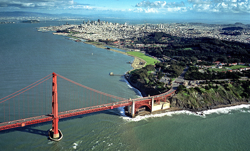 Golden gate Bridge and the Presidio, San Francisco