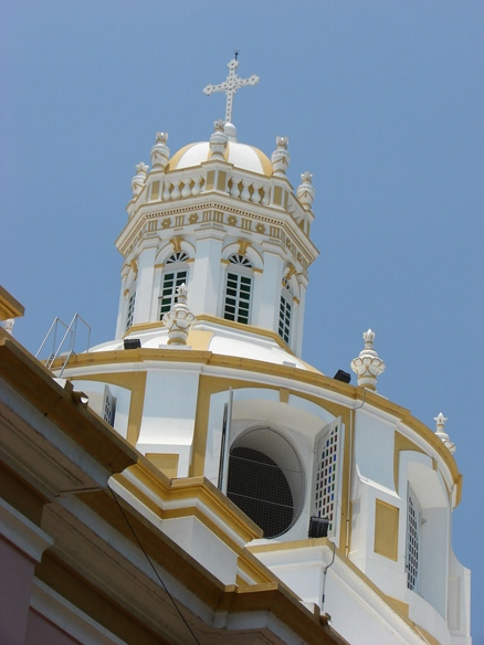 The dome of Immaculate Conception Cathedral
