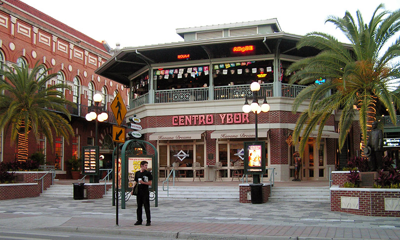 Centro Ybor in Tampa, morning